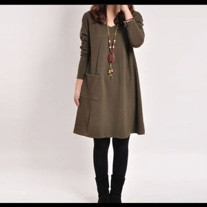 Dresses & Skirts - Solid Dress/Tunic With Pocket